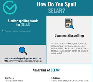 Correct spelling for selar