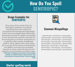 Correct spelling for semitropic