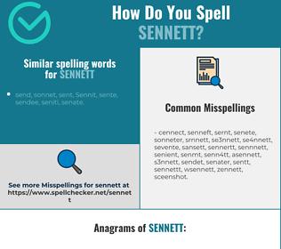 Correct spelling for sennett