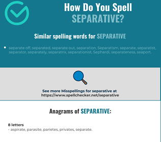 Correct spelling for separative