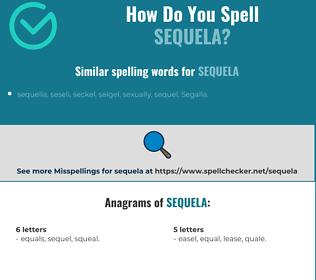 Correct spelling for sequela