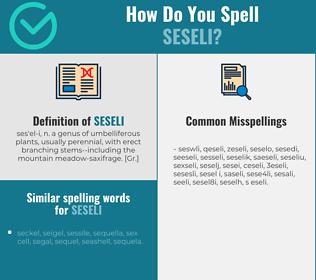 Correct spelling for seseli