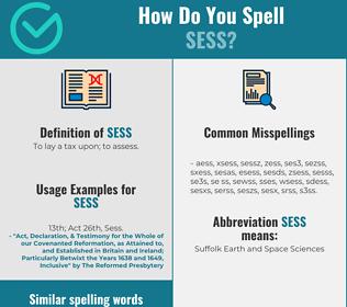 Correct spelling for sess