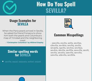Correct spelling for sevilla