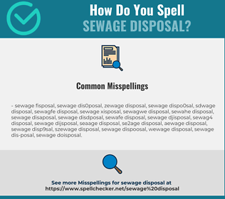 Correct spelling for sewage disposal