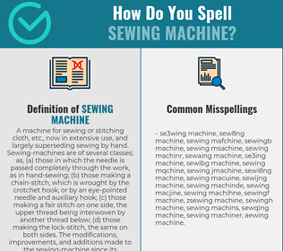 Correct spelling for sewing machine