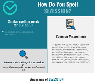 Correct spelling for sezession