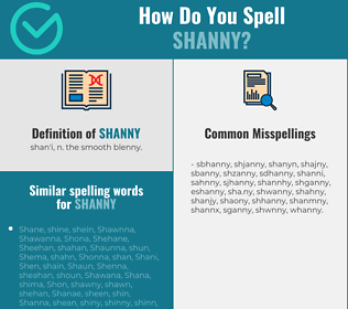 Correct spelling for shanny