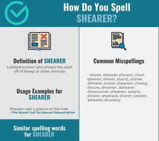 Correct spelling for shearer