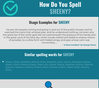Correct spelling for sheeny