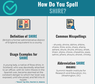 Correct spelling for shire
