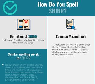 Correct spelling for shirr