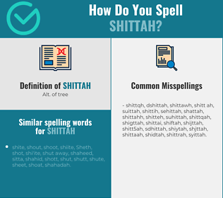 Correct spelling for shittah