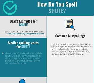 Correct spelling for shute