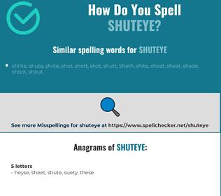 Correct spelling for shuteye