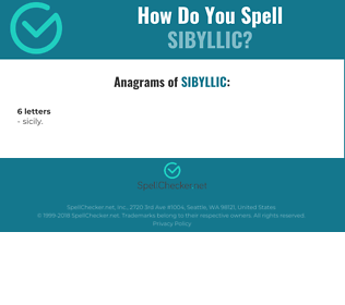 Correct spelling for sibyllic