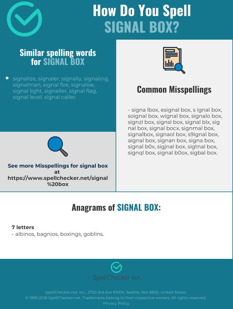 Correct spelling for signal box [Infographic] | Spellchecker net