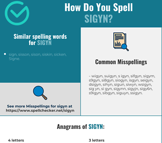 Correct spelling for sigyn
