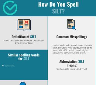 Correct spelling for silt