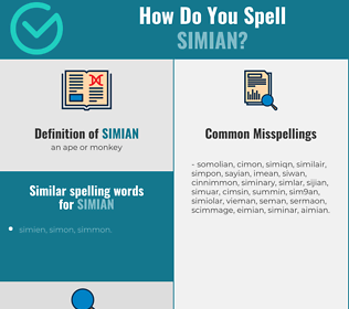 Correct spelling for simian