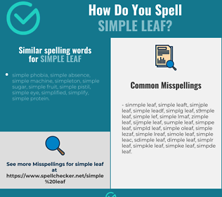 Correct spelling for simple leaf