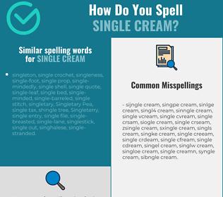 Correct spelling for single cream