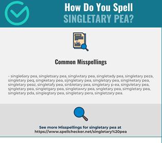 Correct spelling for Singletary Pea