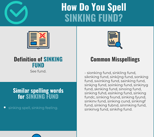 Correct spelling for sinking fund