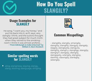 Correct spelling for slangily