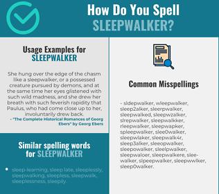 Correct spelling for sleepwalker