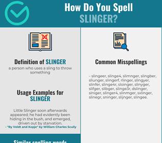 Correct spelling for slinger