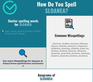Correct spelling for sloanea