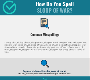 Correct spelling for sloop of war