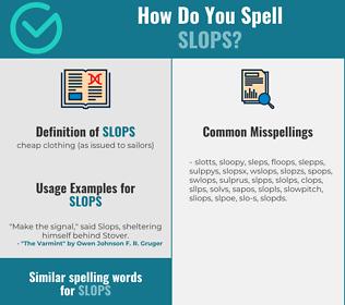 Correct spelling for slops