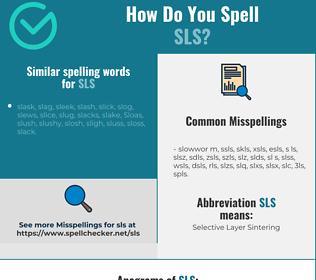 Correct spelling for sls