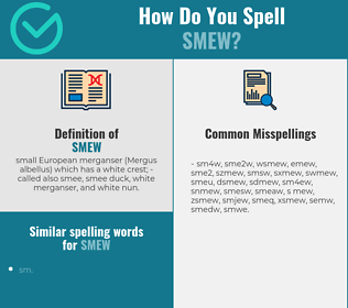 Correct spelling for smew