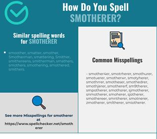 Correct spelling for smotherer