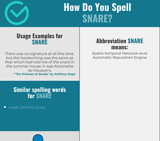Correct spelling for snare