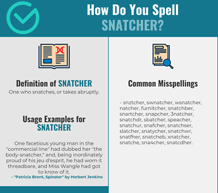 Correct spelling for snatcher