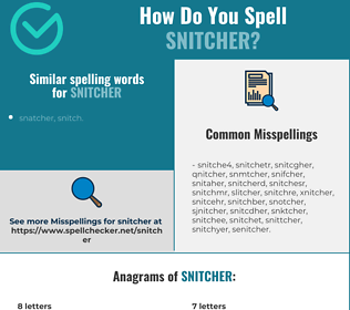Correct spelling for snitcher