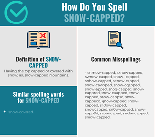 Correct spelling for snow-capped