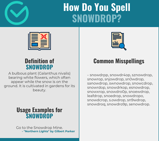 Correct spelling for snowdrop