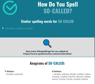 Correct spelling for so-called