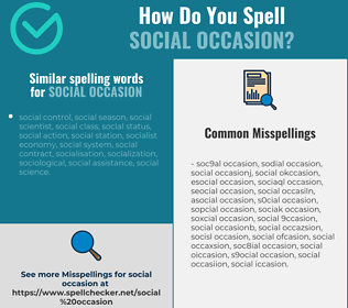 Correct spelling for social occasion