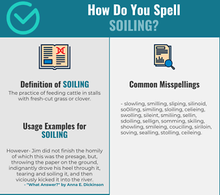 Correct spelling for soiling