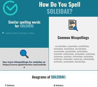 Correct spelling for soleidae