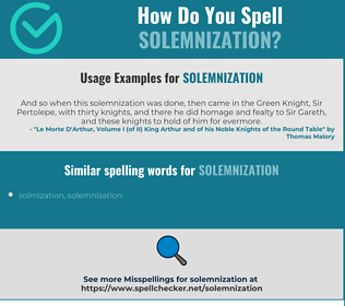 Correct spelling for solemnization