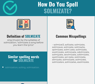 Correct spelling for solmizate