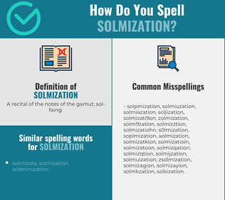 Correct spelling for solmization