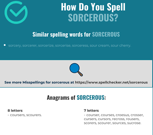 Correct spelling for sorcerous